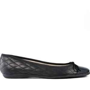 FS NY Women's Shoes Quilted Ballet Flats Black 9